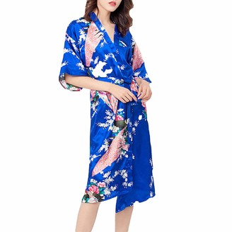 Raylans Ladies Dressing Gown Bath Robe Kimono Cardigans Wedding Party Pyjamas