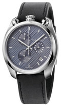 Calvin Klein CONTROL POLISHED/BRUSH SS CASE, BLACK DIAL, BLACK LTHR, 46MM