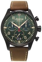 Alpina Startimer Chronograph Fabric Strap Watch