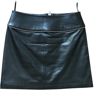 Zadig & Voltaire Black Leather Skirts