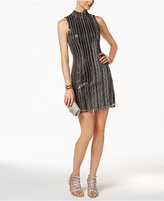 GUESS Open-Back Sequined Sheath Dress