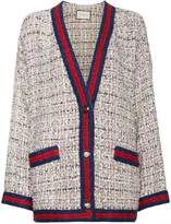 Gucci Tweed cardigan with contrast trim