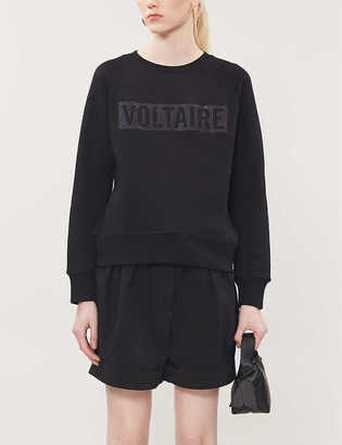Zadig & Voltaire Voltaire slogan cotton-jersey sweatshirt