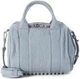 Alexander Wang Rockie Bowler Bag In Grey Tumbled Lamb Leather