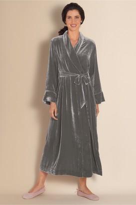Soft Surroundings Silk Velvet Robe I