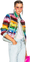 Ashish Sequin Jacket in Blue,Green,Orange,Red,Pink,Purple,Stripes.