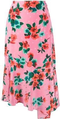 Essentiel Antwerp Floral-Print Asymmetric Skirt