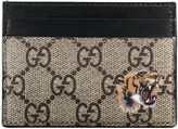 Thumbnail for your product : Gucci Tiger print GG Supreme card case