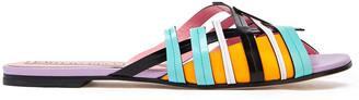 Emilio Pucci Color-block Leather Slides