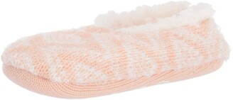 Dearfoams Women's Fairisle Knit Toasty Slipper Sock