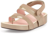 Taryn Rose Avin Patent Leather Strappy Sandal, Quartz