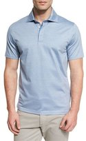 Ermenegildo Zegna Stretch-Cotton Polo Shirt, Light Blue