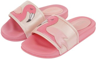 Monsoon Girls Floella Flamingo Slider - Pale Pink