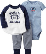 Carter's 3-pc. Long-Sleeve Bodysuit, Top & Pants Set - Baby Boys newborn-24m