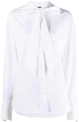 Jejia Pussybow-Collar Cotton Blouse