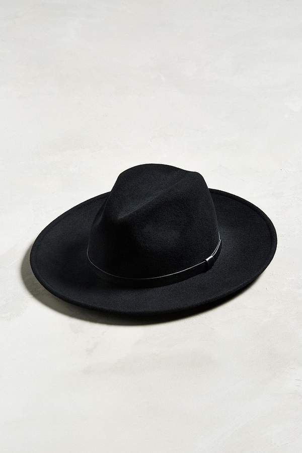 ea1273b49404e5 Mens Black Wide Brim Fedora - ShopStyle