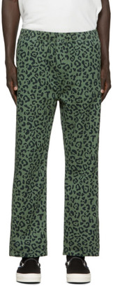 Chaos Vyner Articles Green Leopard Lounge Pants
