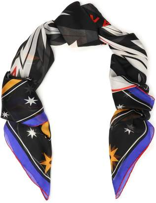 Givenchy Printed Silk-chiffon Scarf
