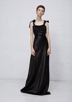Maison Margiela black tank satin dress