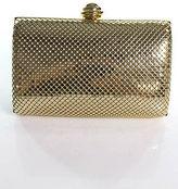 La Regale Gold Metal Snap Closure Shoulder Handbag