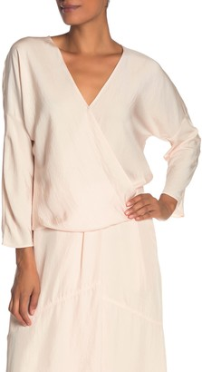 Vince Crossover Satin Blouse