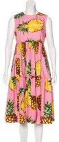 Dolce & Gabbana Spring 2017 Pineapple Print Dress w/ Tags