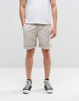 Brooklyn Supply Co. Brooklyn Supply Co Skinny Chinos Shorts In Beige