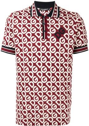 Dolce & Gabbana monogram-print polo shirt