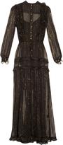 Zimmermann Mischief Lurex-stripe silk-chiffon dress