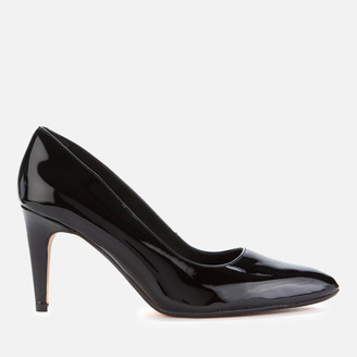 Clarks Women's Laina Rae 2 Patent Leather Court Shoes - Black