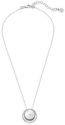 Majorica Stainless Steel & Organic Man-Made Pearl Pendant Necklace