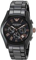 Emporio Armani Men's AR1410 Ceramica Black Stainless Steel Watch