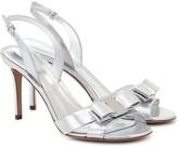 Salvatore Ferragamo Vara metallic leather sandals