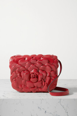 Valentino Garavani 03 Rose Edition Atelier Small Leather Shoulder Bag - Red
