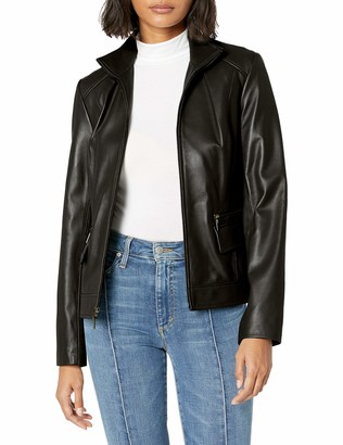 Cole Haan Women's Wing Collar Jacket