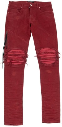 Amiri Red Cotton - elasthane Jeans