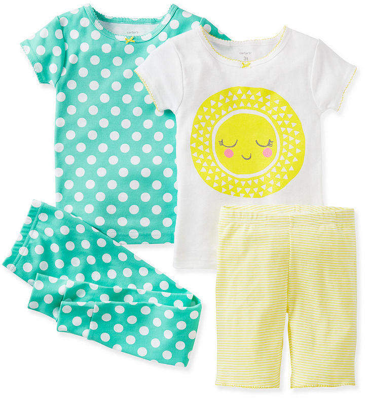 Carter's Baby Girls' 4-Piece Pajamas