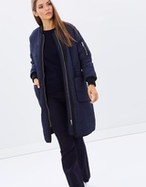 Whistles Lini Quilted Longline Parka