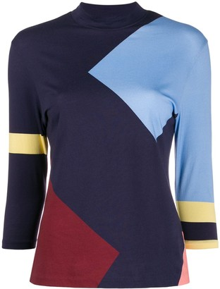 Chinti and Parker Contrasting Panel Top