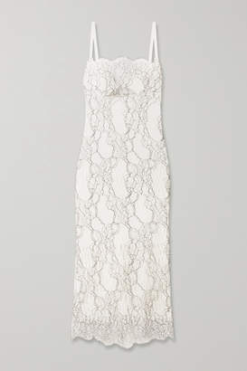 Dion Lee Lory Corded-lace And Cutout Neoprene Dress - White