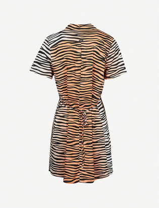 Obey Kitty tiger-print woven mini dress