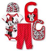 Mickey Mouse Disney Girls' Top and Bottom Set Red and White 0-6M
