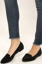 Qupid Walk Softly Black Faux Pony Fur Loafer Flats