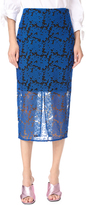 Diane von Furstenberg Overlay Tailored Pencil Skirt