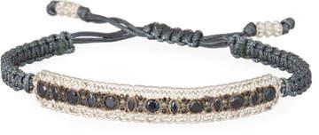 Armenta New World Pull Cord Bracelet with Black Sapphires