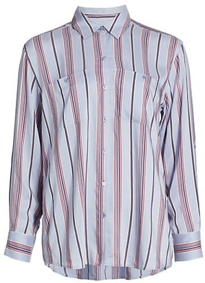 Joie Lidelle Striped Button-Up Shirt