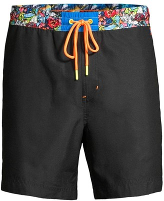Robert Graham Classic-Fit Walken Print-Waist Swim Trunks