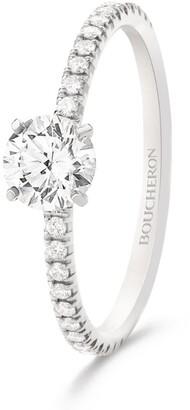 Boucheron Platinum and Diamond Beloved Ring