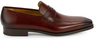 Magnanni Leather Apron Toe Loafers