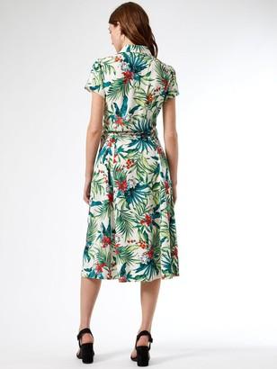 Dorothy Perkins Stone Tropical Shirt Dress - Multi